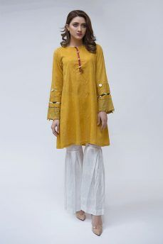 256b76f35b Latest Maria B Pret Stitched Summer Dresses Designs 2018-19 Collection