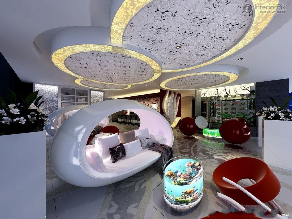Creative living room ceiling design