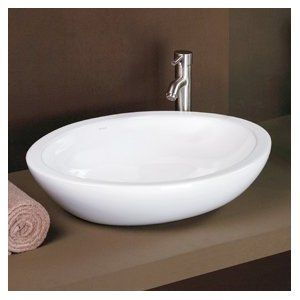 Decolav 1478 Cwh Oval Vitreous China Vessel Sink White White Vessel Sink