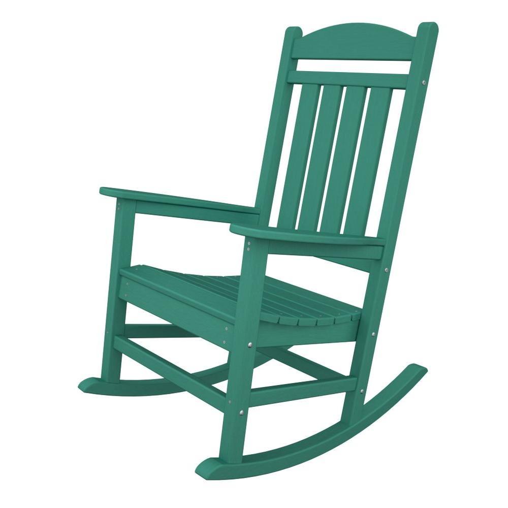 Polywood Presidential Aruba Plastic Patio Rocker R100ar The Home Depot Rocking Chair Plastic Rocking Chair Wooden Rocking Chairs