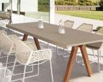 Kettal vieques tafel met aluminium top kettal
