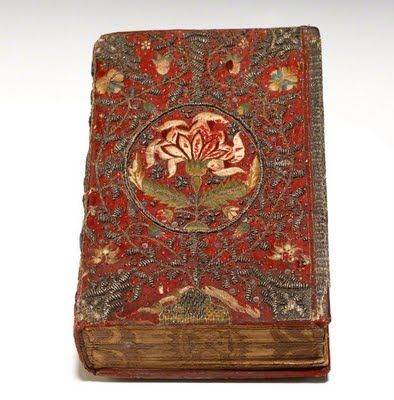 Embroidered copy of King James bible 1611.  Covers were designed and ordered individually.
