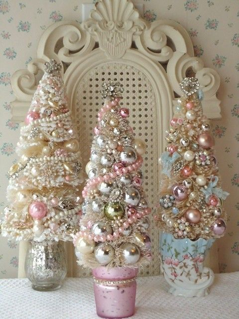 Decoración navideña en rosa Christmas in Paris♡ Pinterest - decoracion navidea estilo vintage