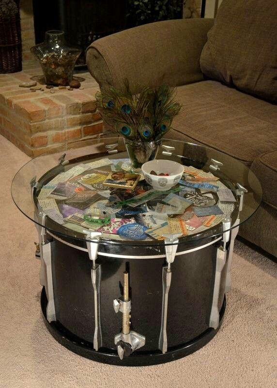 Coffee Table Décor Ideas- Living Room Styling | Drum table, Drums ...
