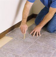 How to Lay a Vinyl Tile Floor | Vinyl tile flooring. Laying vinyl flooring. Flooring