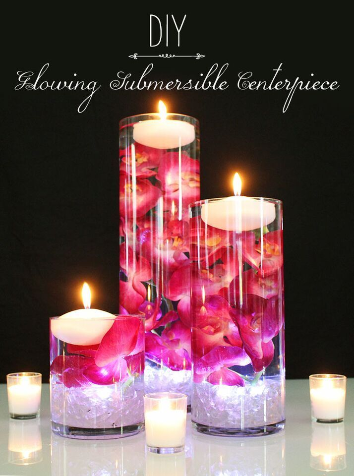 Centerpieces with orchids and floating candles video