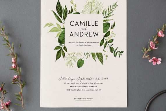 I Want To Design My Own Wedding Invitations: Woodland Wedding Invitation Set,Printable Forest Wedding