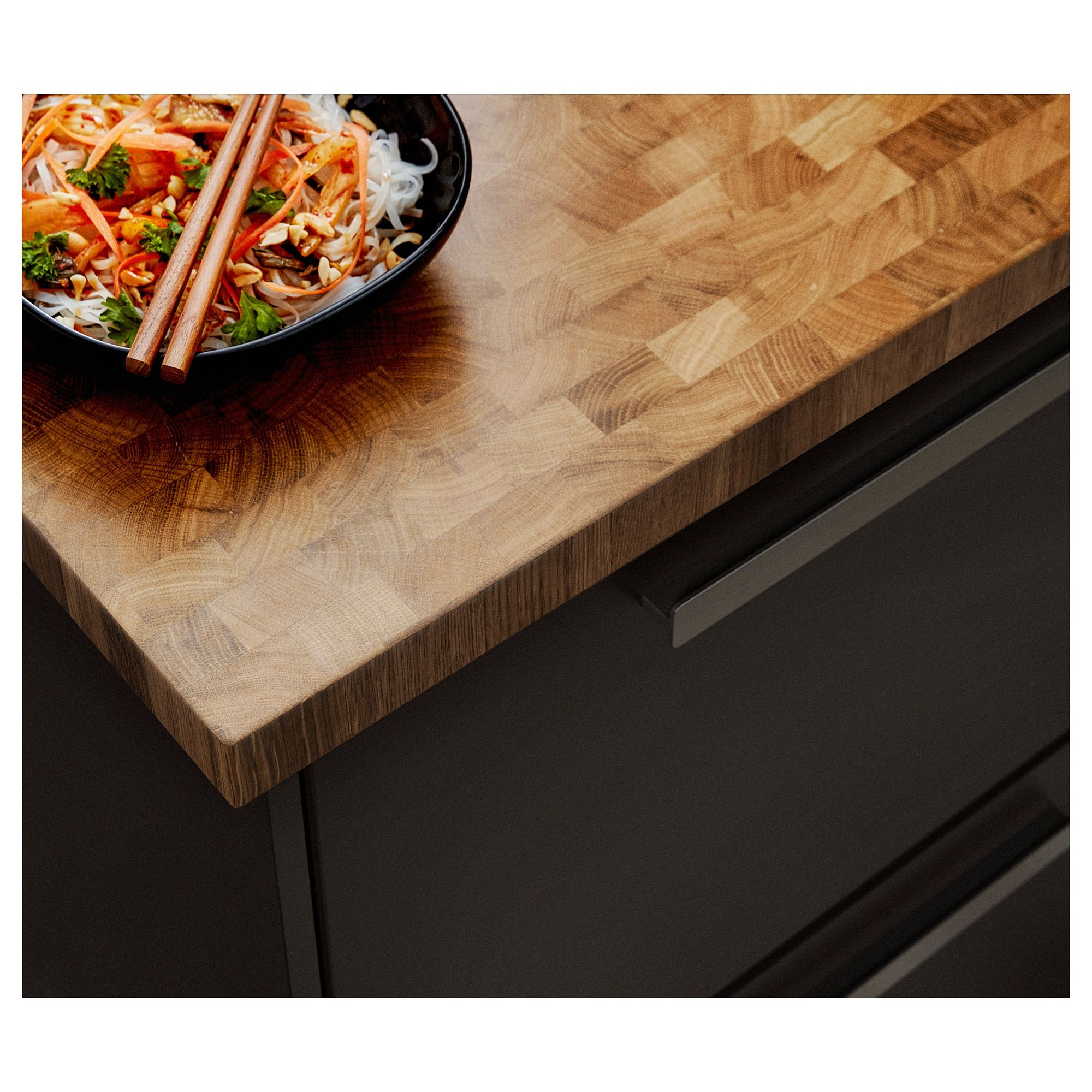 SkogsÅ Countertop Oak Veneer Ikea Countertops Wood Worktop Wood Countertops