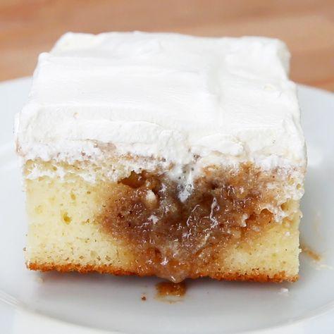 Cinnamon Roll Poke Cake Recipe by Tasty