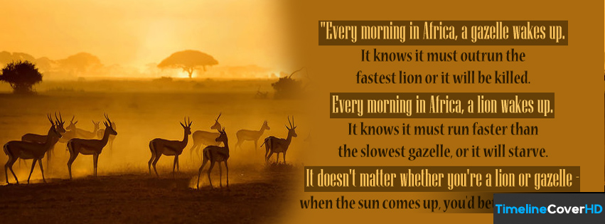 Running Every Morning In Africa Timeline Cover 850x315 Facebook