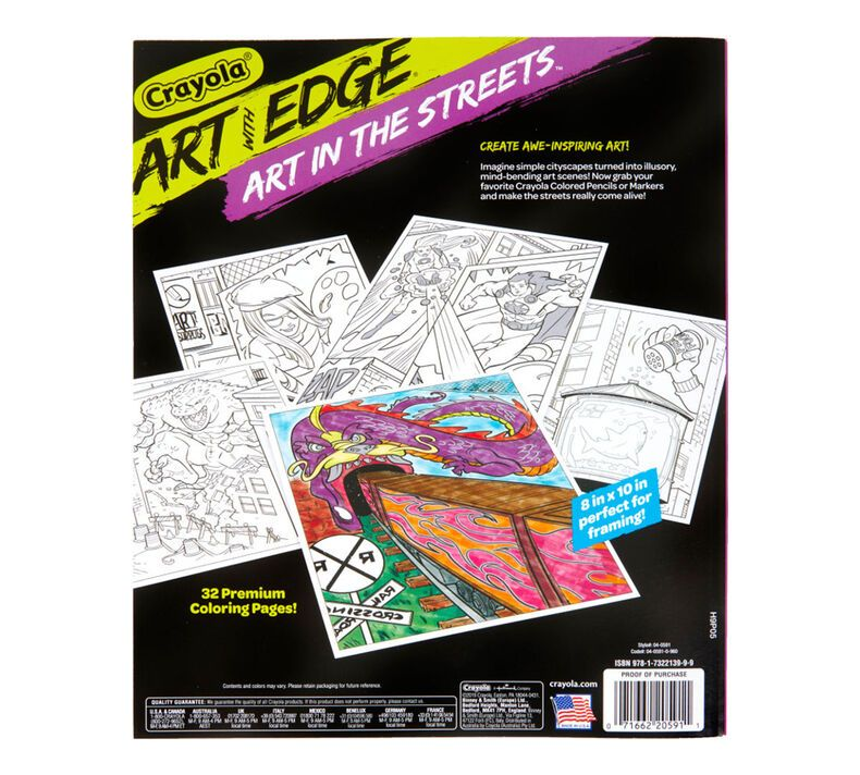 Art With Edge Coloring Book, Art in the Streets Crayola