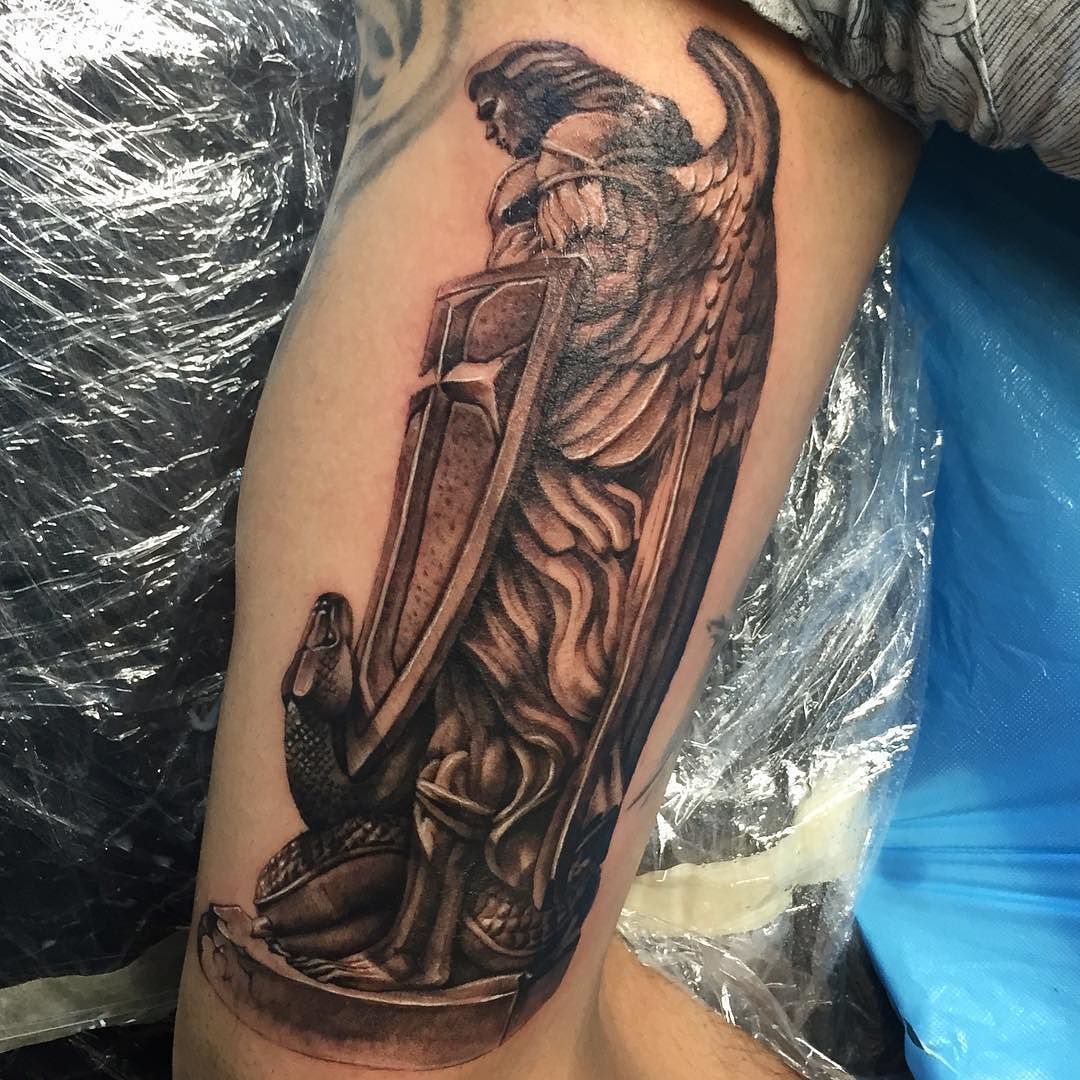 Follow And Tag @inkedmagz To Get Featured Saint Michael