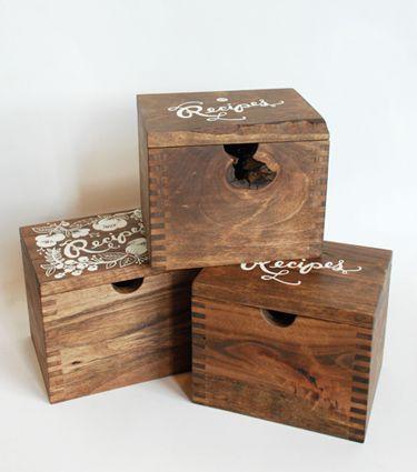Heirloom Recipe Card Boxes Via Rifle Paper Co