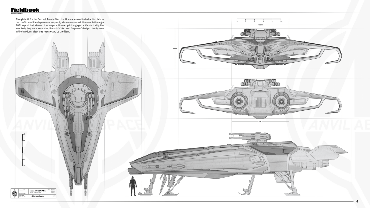 Anvil Hurricane Brochure Concept Image Album Star Citizen Star Trek Starships Star Wars Rpg