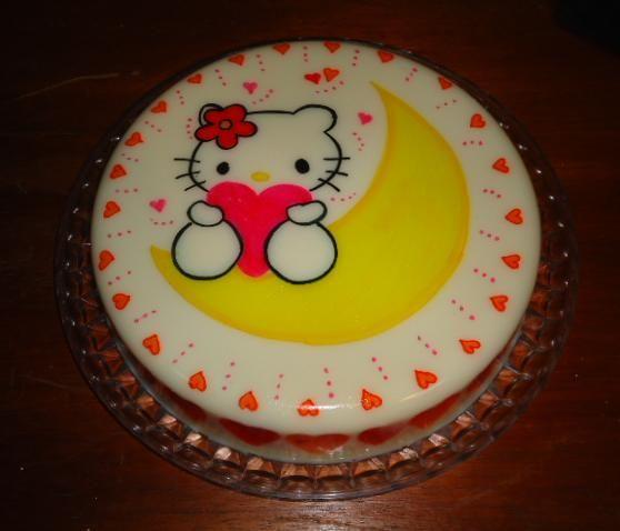 Gelatina de Hello Kitty // Hello Kitty gelatin // Vilma ...