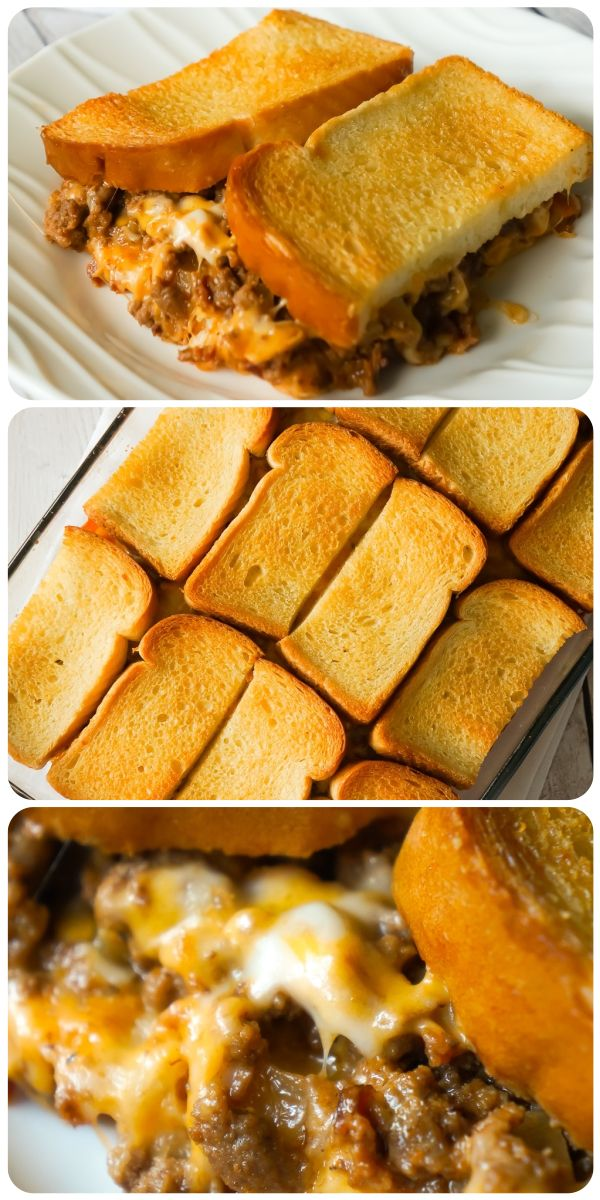 Photo of Bacon Cheeseburger Grilled Cheese Casserole