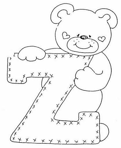Laminas de ositos para niños Abecedario infantil para colorear y ...