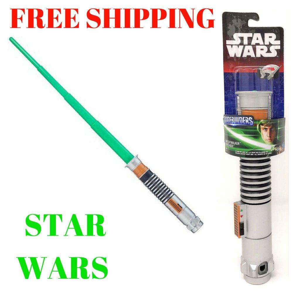 Star Wars Bladebuilders Luke Skywalker Green Extendable Lightsaber Hasbro B2913 Hasbro Star Wars Toys Lightsaber War