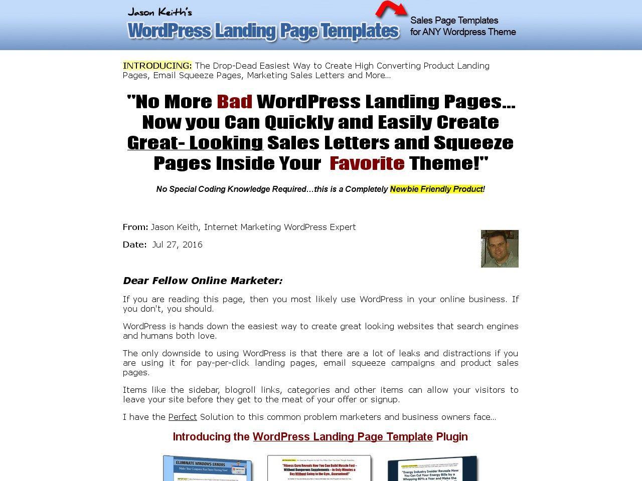 Get Wordpress Landing Page Templates Httpvnulablab