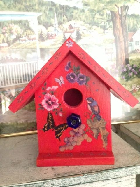 Handcrafted Decorative Birdhouse Rust W by Bloomsbotanicals $75 00