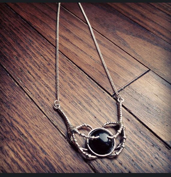 Claw Black Onyx Necklace by KRUELINTENTIONS on Etsy