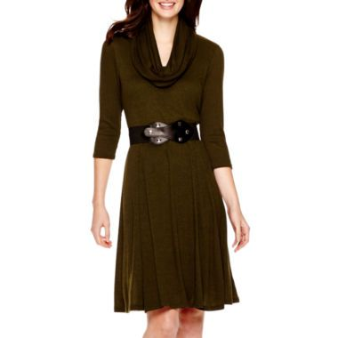 bcdaecc3a26 Robbie Bee® 3 4-Sleeve Sweater Dress found at  JCPenney