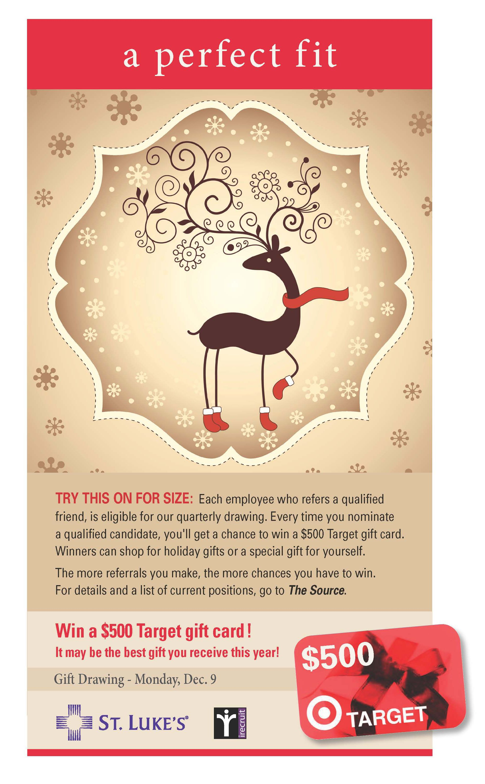 Holiday Employee Referral Program Ad We Created For Out Client St