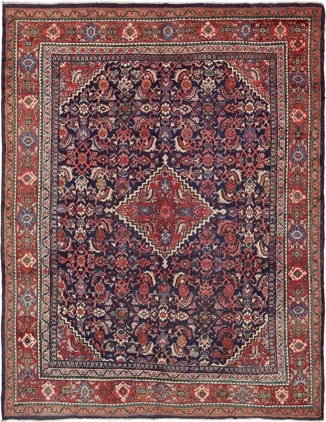 Navy Blue 9 3 X 12 3 Farahan Persian Rug Persian Rugs Esalerugs Rugs Persian Rug Persian