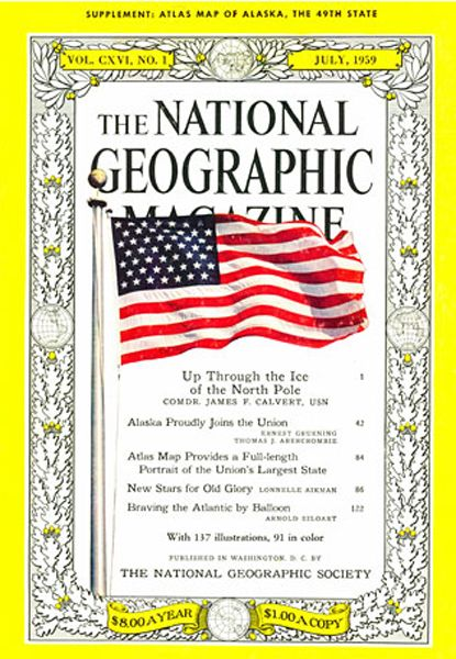 The first National Geographic cover with a photo.