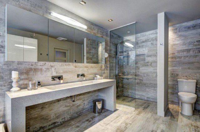 Carrelage sol salle de bain imitation bois en 15 idées top