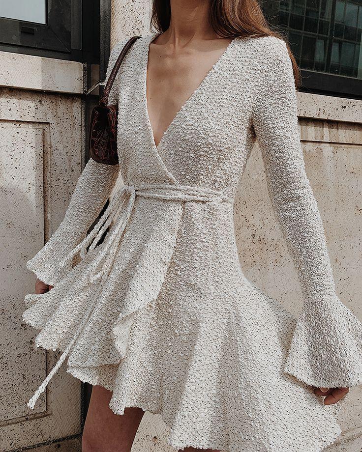 Photo of Hayes wrap mini dress – MODEDAMOUR
