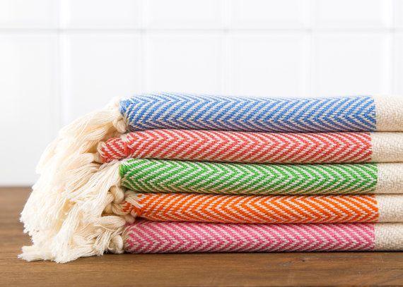 herringbone hand towel turkish head hand towel cotton hand towel peshtemal