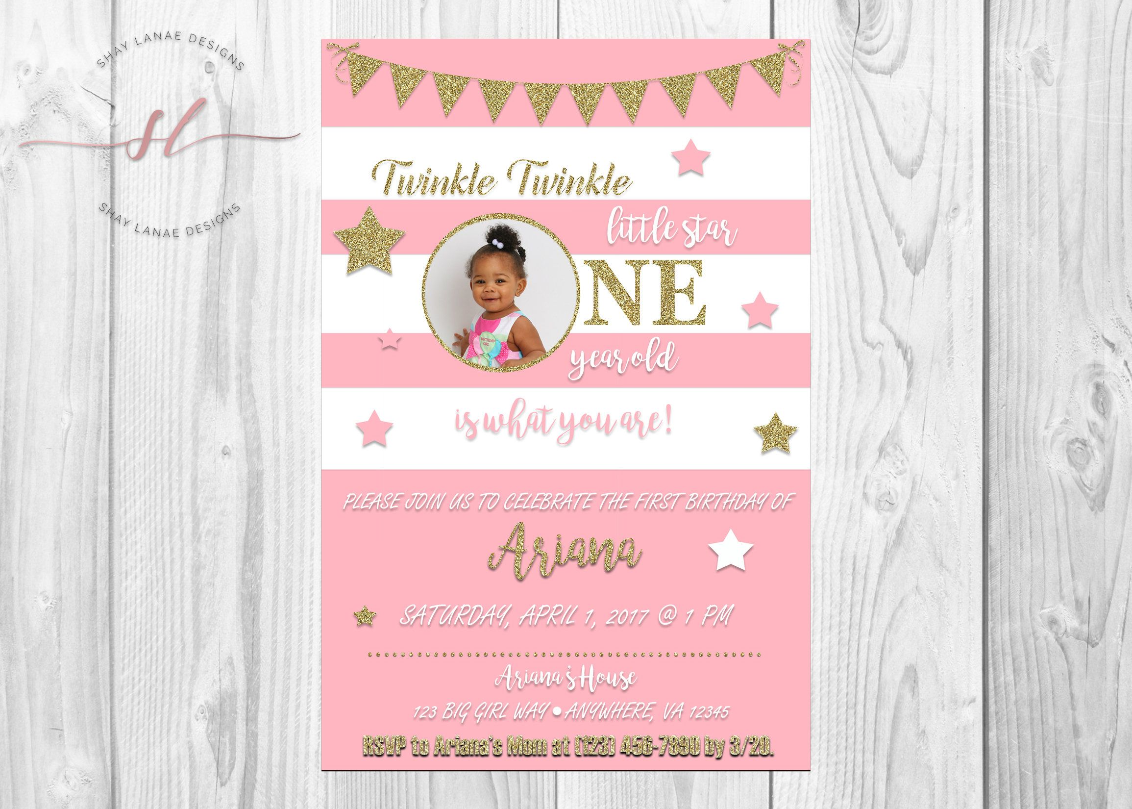 Le Little Star Birthday Invitation S Kids Invitations