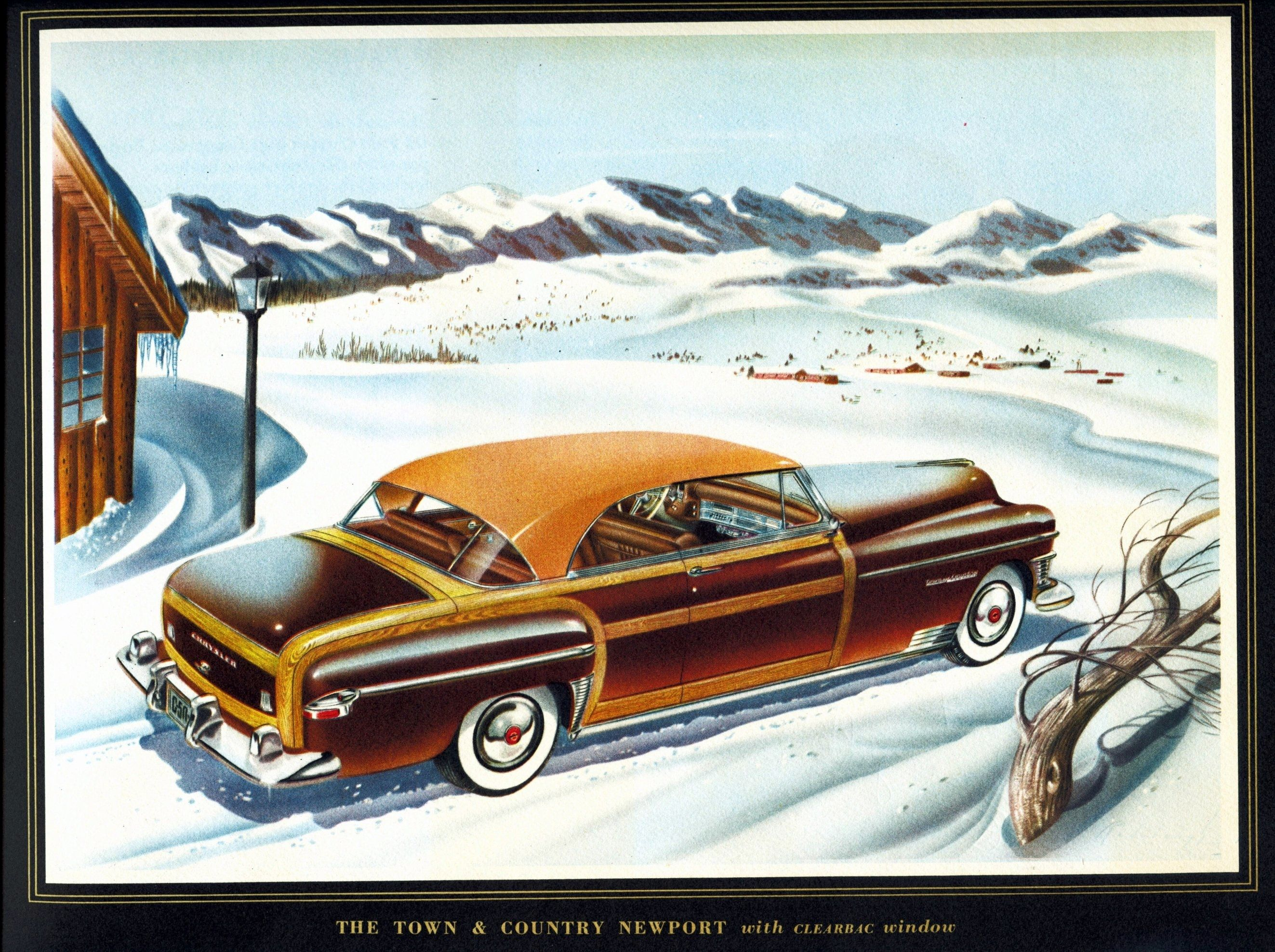 1950 Chrysler Town & Country Old automobile ads
