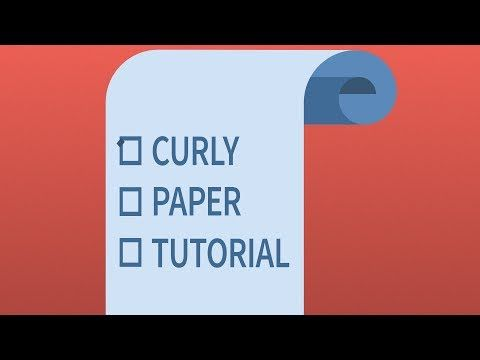 Curly Paper After Effects Tutorial Easy Youtube After