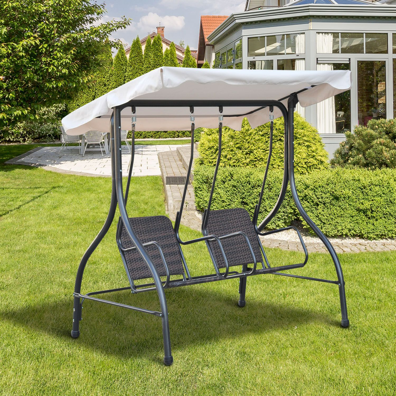 Outdoor 2 Seat Swing Fishing
