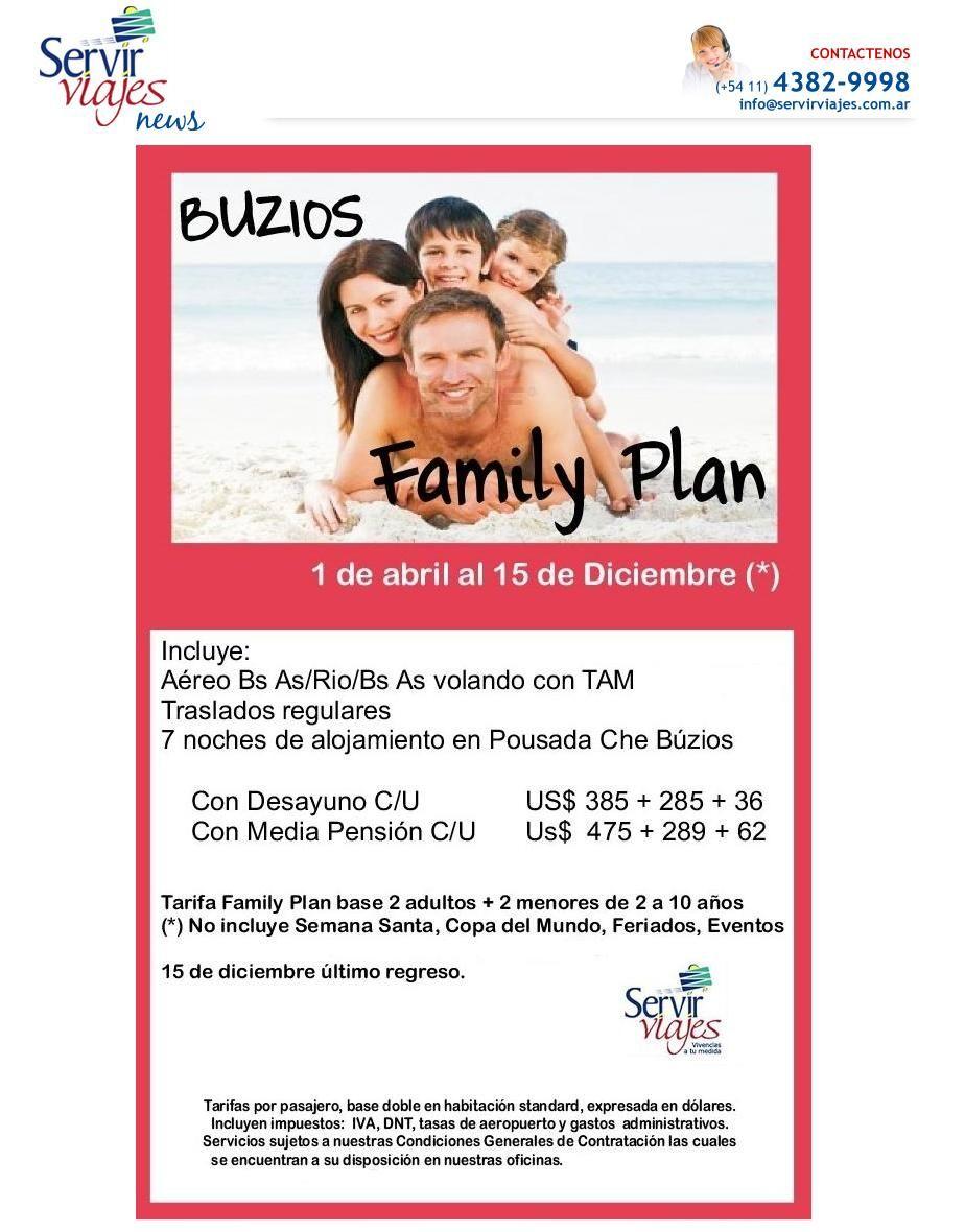 BUZIOS FAMILY PLAN!!