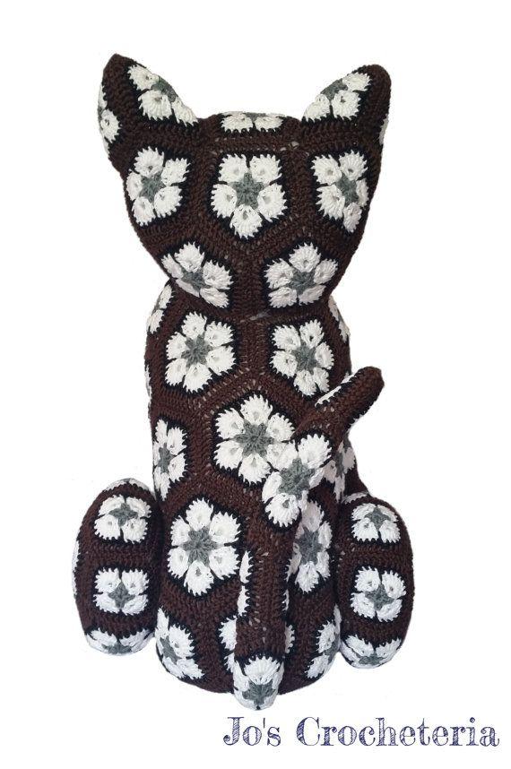 Afrikanische Blume häkeln Katze von JOsCrocheteria auf Etsy ...