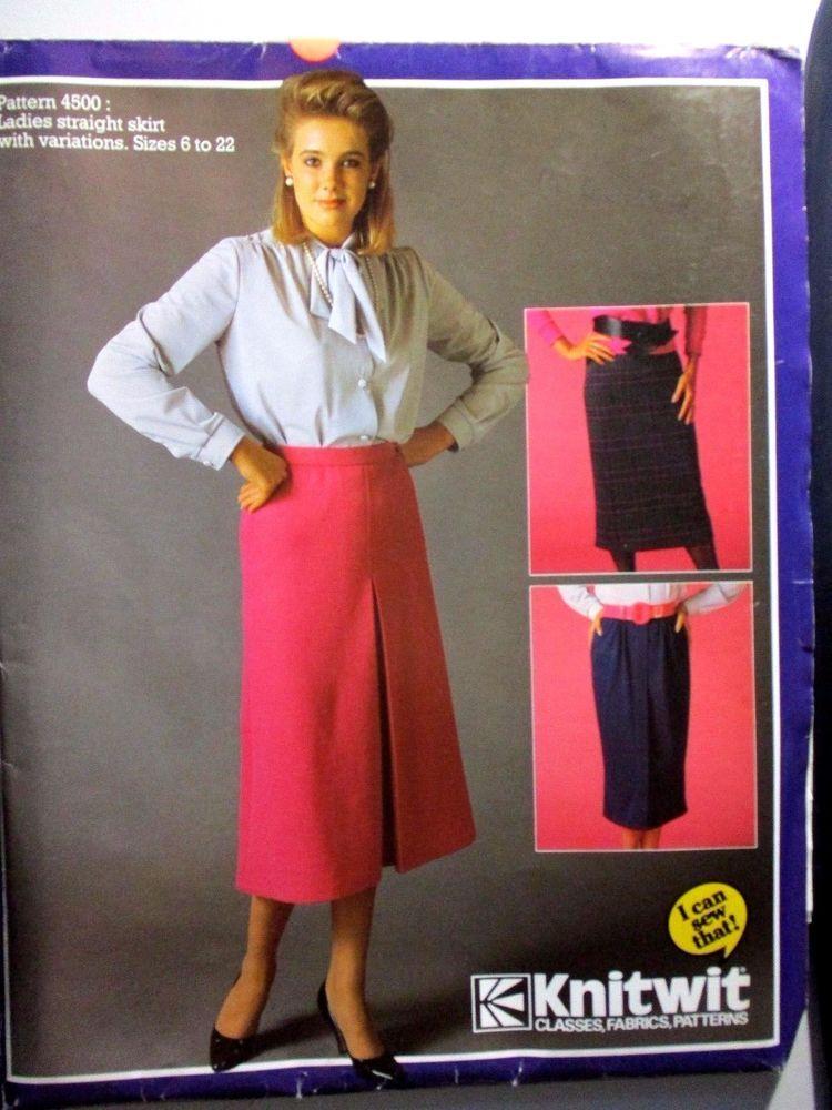 Knitwit sewing pattern no.3900 ladies straight dress size 6-22 ...