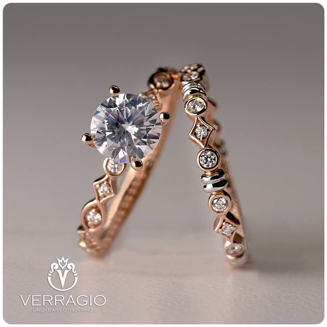 Verragio Renaissance 965 In Rose Gold Verragio Engagement Rings Wedding Rings For Women Popular Engagement Rings
