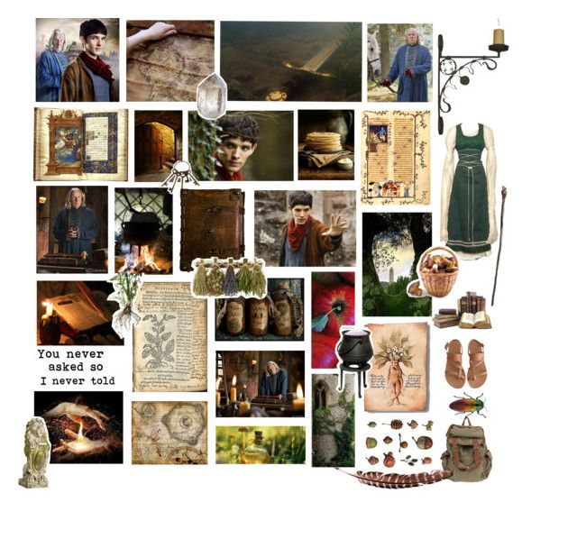 """""""Gaius & Merlin"""" by wintereule ❤ liked on Polyvore featuring art"""