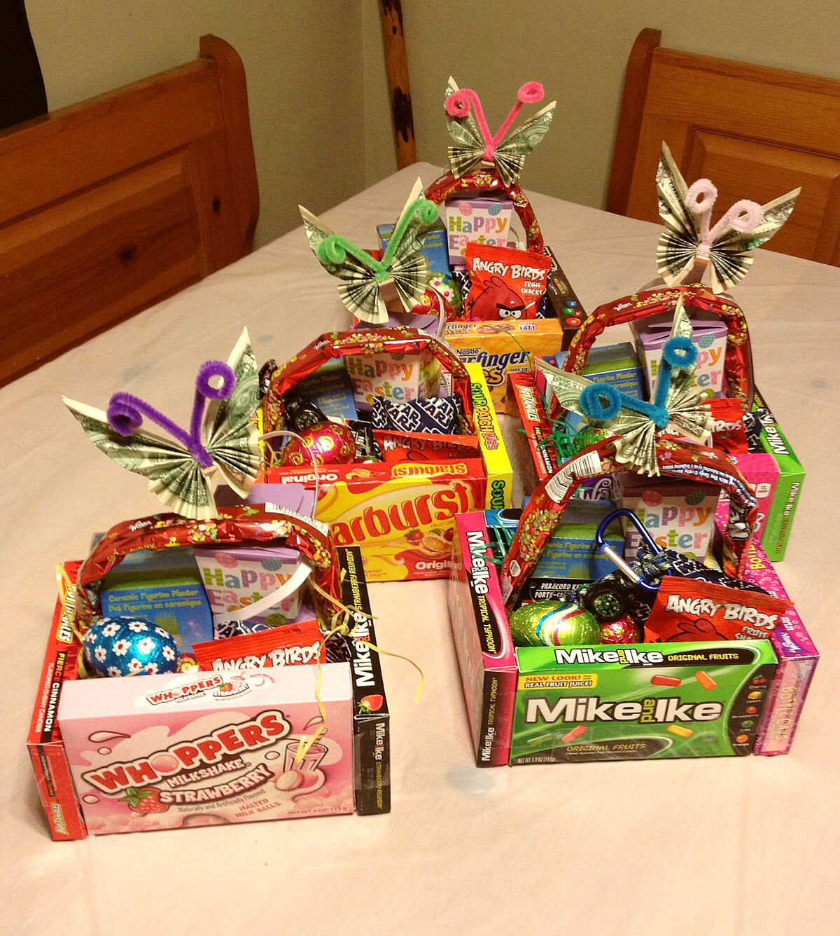 Easter basket fun our kids are getting a little older so instead easter basket fun our kids are getting a little older so instead of chocolate bunnies coloring eggs this year i made them some fun baskets negle Image collections