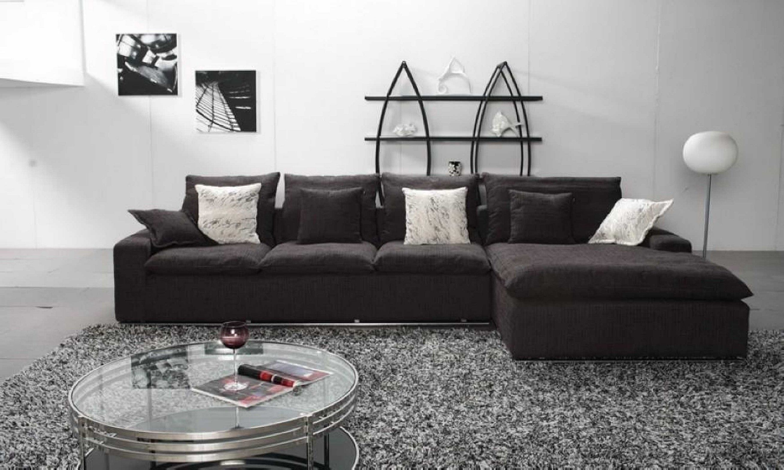 Boco Modern Black Leather Sofa Set