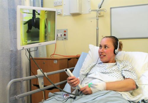 Patients have access to TVs in Hinchingbrooke NHS Trust
