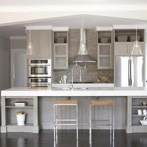 Gray Kitchen Cabinets Contemporary Kitchen Sherwin Williams