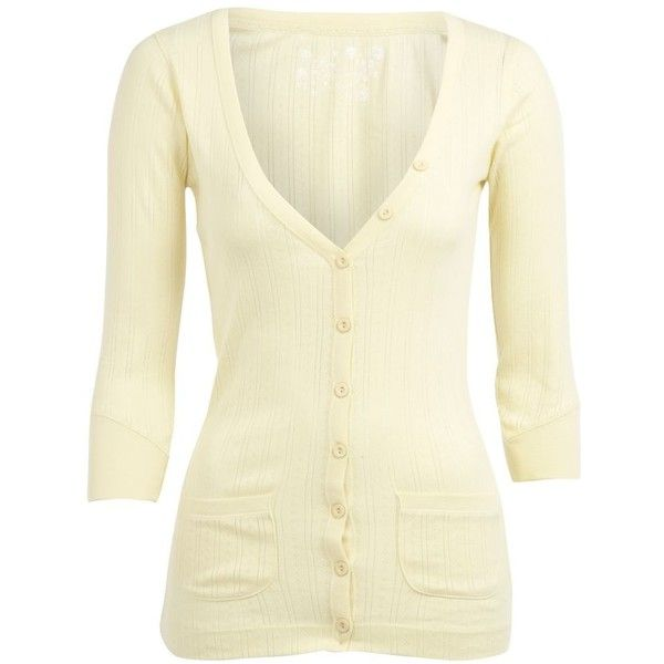 Lemon pointelle cardigan ($15) ❤ liked on Polyvore featuring tops, cardigans, sweaters, jackets, shirts, sale+women, women's clothing, pointelle cardigan, cardigan shirt and shirts & tops