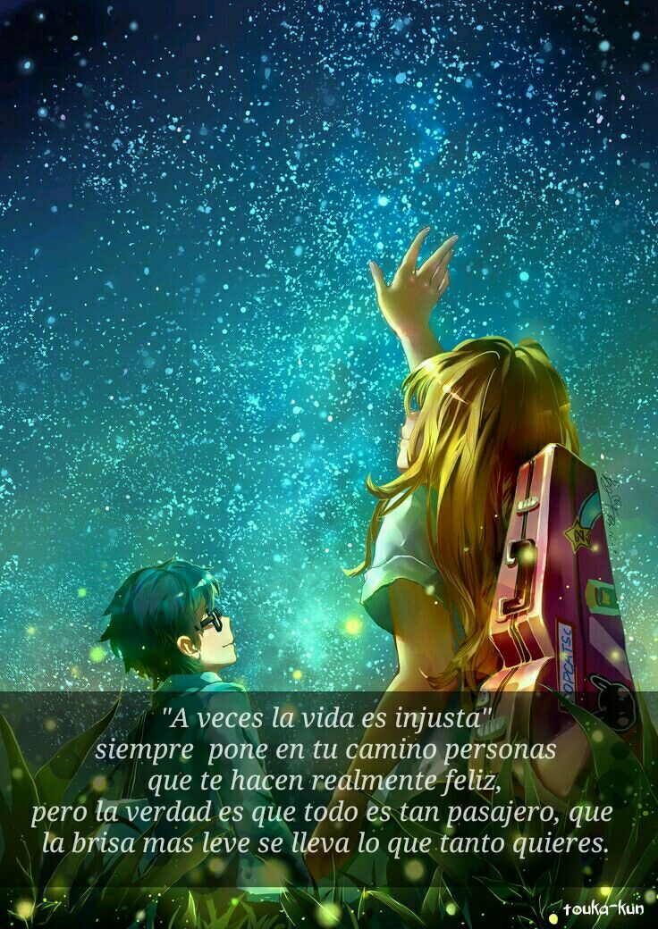 Very Sad Girl Boy Wallpaper Frases Anime Shigatsu Wa Kimi No Uso Collage Animes Con