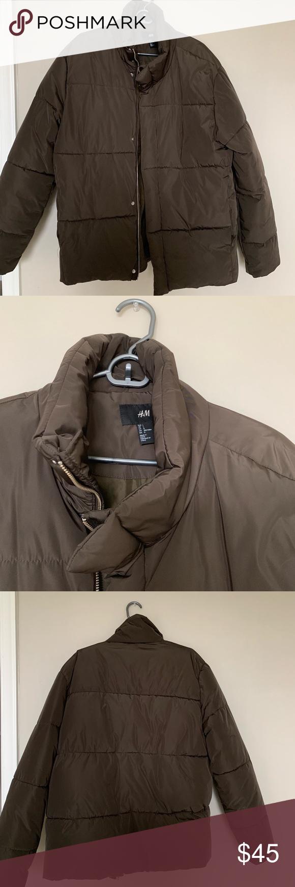 Men's Brown Puffer Coat H&M Puffer coat, Fashion