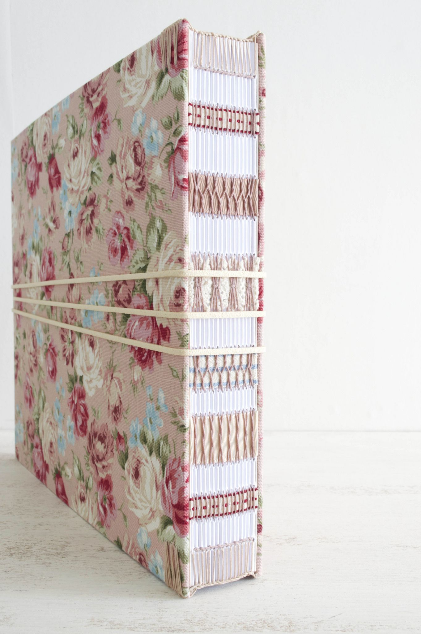https://flic.kr/p/xSX5i4 | DSC_0042 | Floral wedding album with exposed spine by Dani Fox
