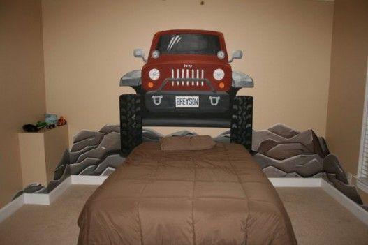 Jeep Mural Kids Bedroom Designs Kids Room Murals Bedroom Design